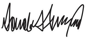 handtekening trump